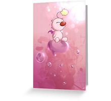 Moogle's Bubble Greeting Card