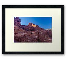 Wupatki Ruins, Sunrise AZ Framed Print