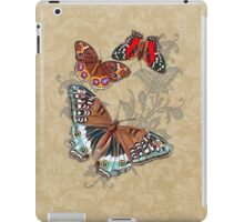 Butterflies on Brown Floral iPad Case/Skin