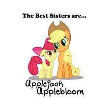 The Best Sisters are Applejack and Applebloom iPhone by Steven Hoag