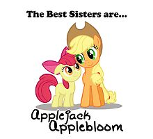 The Best Sisters are Applejack and Applebloom iPad by Steven Hoag