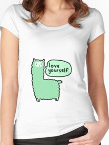Love Yourself Alpaca Women's Fitted Scoop T-Shirt