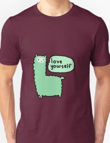 Love Yourself Alpaca Unisex T-Shirt