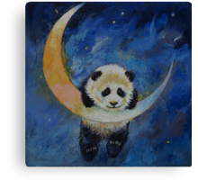 Panda Stars Canvas Print