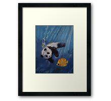 Panda Diver Framed Print
