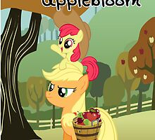 The Best Sisters are Applejack and Applebloom poster by Steven Hoag