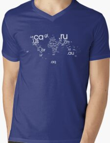 World Wide Web (White) Mens V-Neck T-Shirt