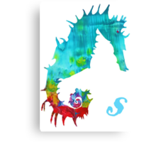 S is for Seahorse Canvas Print