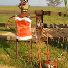 Lawnmowing Lady Box by Penny Smith