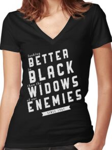 SHADOWHUNTERS: Better in Black Women's Fitted V-Neck T-Shirt