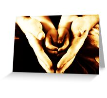 hands and hearts Greeting Card