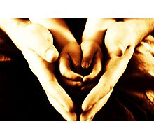 hands and hearts Photographic Print