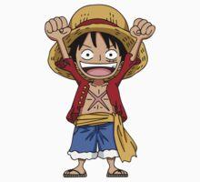 Luffy New World Chibi One Piece - Short Sleeve