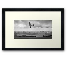 Eagle over England, black-and-white version Framed Print