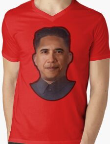 Obama-Kim Jong Un Mens V-Neck T-Shirt