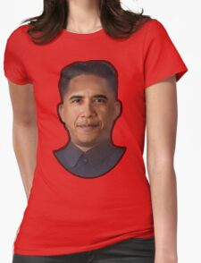 Obama-Kim Jong Un Womens Fitted T-Shirt