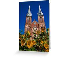 Vietnam. Ho Chi Minh City. Notre-Dame Basilica. Greeting Card