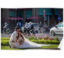 Vietnam. Ho Chi Minh City (Saigon). Bride and Groom. Poster