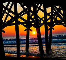Under the Pier Sunrise by donaldhovis