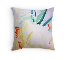 Daffs at 9 Throw Pillow