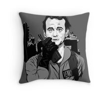 Ghostbusters Peter Venkman Bill Murray illustration Throw Pillow