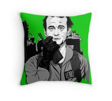Ghostbusters Peter Venkman illustration Throw Pillow