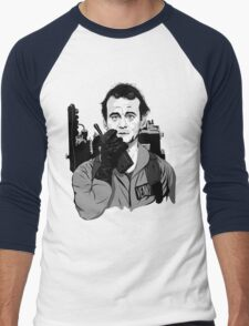 Ghostbusters Peter Venkman Bill Murray illustration Men's Baseball ¾ T-Shirt