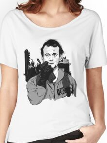 Ghostbusters Peter Venkman Bill Murray illustration Women's Relaxed Fit T-Shirt