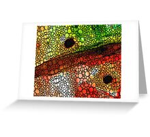 A New Direction - Stone Rock'd Art By Sharon Cummings Greeting Card