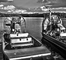 Air boats in Everglades City 2013 by Timothy Lowry