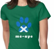 The Paw Says Aye Scottish Independence T-Shirt Womens Fitted T-Shirt