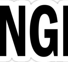 GINGER. Sticker