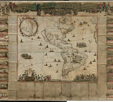 {New map of all America, corrected by F. de Wit} (Amsterdam, 1672) by Adam Asar