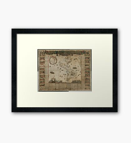 {New map of all America, corrected by F. de Wit} (Amsterdam, 1672) Framed Print