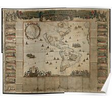 {New map of all America, corrected by F. de Wit} (Amsterdam, 1672) Poster