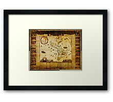 New map of all America corrected by F Framed Print