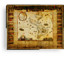 New map of all America corrected by F Canvas Print