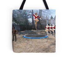 Uh…..I'm pretty sure the boss said you should be working on a ROCKET launcher!! Tote Bag