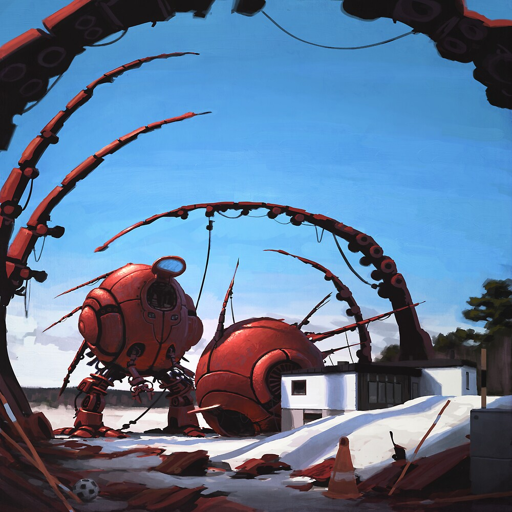 Bottenlastare by Simon Stålenhag