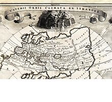 1700 Cellarius Map of Asia Europe and Africa according to Strabo Geographicus OrbisClimata cellarius1700 by Adam Asar