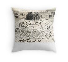 1700 Cellarius Map of Asia Europe and Africa according to Strabo Geographicus OrbisClimata cellarius1700 Throw Pillow
