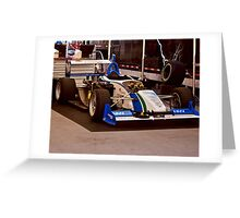 Indy Car 'In the Pits' Greeting Card