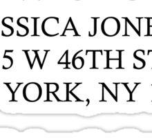 Jessica Jones - Alias Investigations Sticker