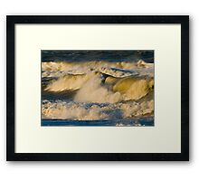 Sunrise Breakers Framed Print