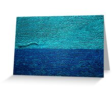 Abstract Towel  Greeting Card