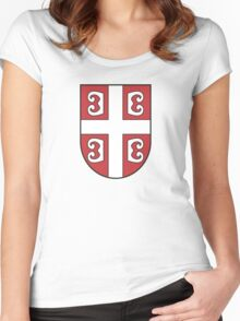Emblem of Serbia Women's Fitted Scoop T-Shirt