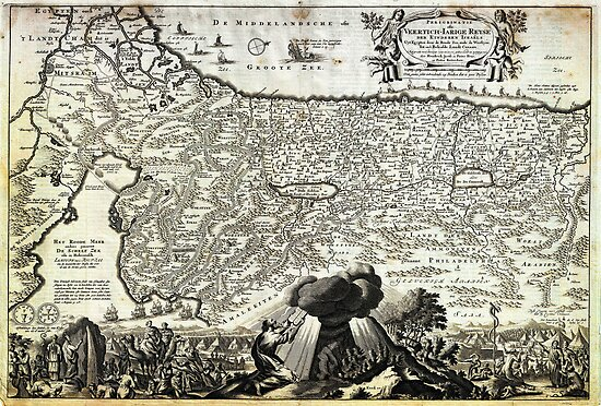 1702 Visscher Stoopendaal Map of Israel Palestine or the Holy Land Geographicus PerigrinatiaeVeertich stoopendaal 1702 by MotionAge Media