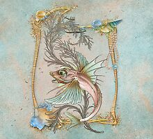 Fantasy Fish Art Nouveau by SpiceTree
