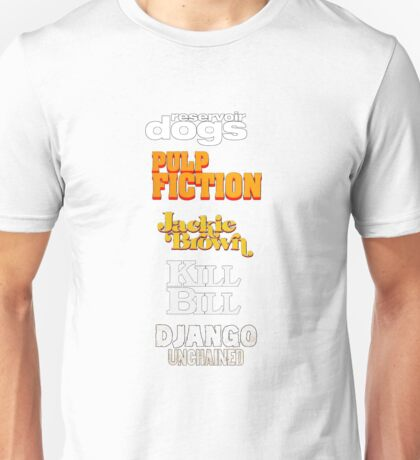Quentin Tarantino Title Cards Unisex T-Shirt