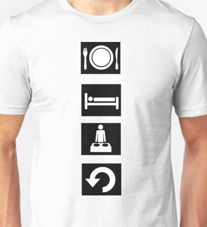 Eat, Sleep, Rave, Repeat. Unisex T-Shirt